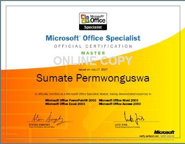 MOS Certificates